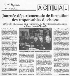 L'Est Républicain du 01 nov 2000